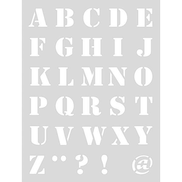 Rico Design Schablone Alphabet 1 18,5x24,5cm selbstklebend