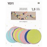 YEY! Let's Party Girlande Bälle mehrfarbig 1,5m
