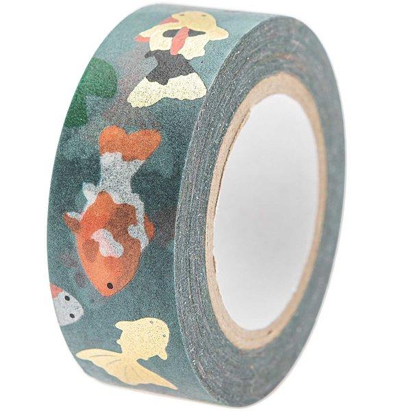 Paper Poetry Tape Jardin Japonais Kois 1,5cm 10m