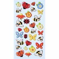 HobbyFun SoftySticker Marienkäfer-Bienen-Schmetterlinge 17,5x9cm