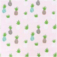 Rico Design Stoff Ananas pink 50x140cm