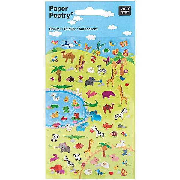 Paper Poetry Sticker Tierwiese I