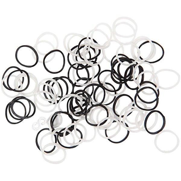 Jewellery Made by Me Loom Bänder schwarz-weiß ca. 100 Stück