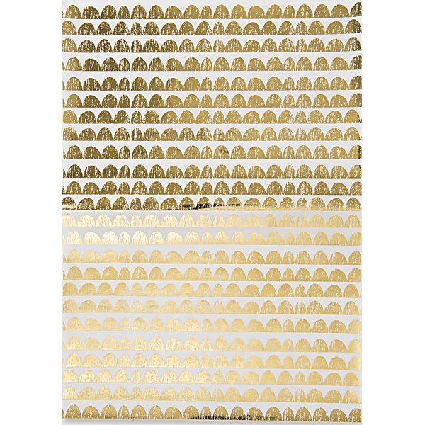 Rico Design SB Paper Patch Papier gold 30x42cm 3 Bogen Hot Foil