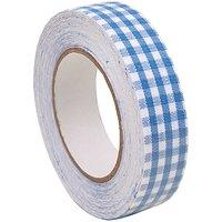 Rico Design Stofftape kariert blau-weiß 5m selbstklebend