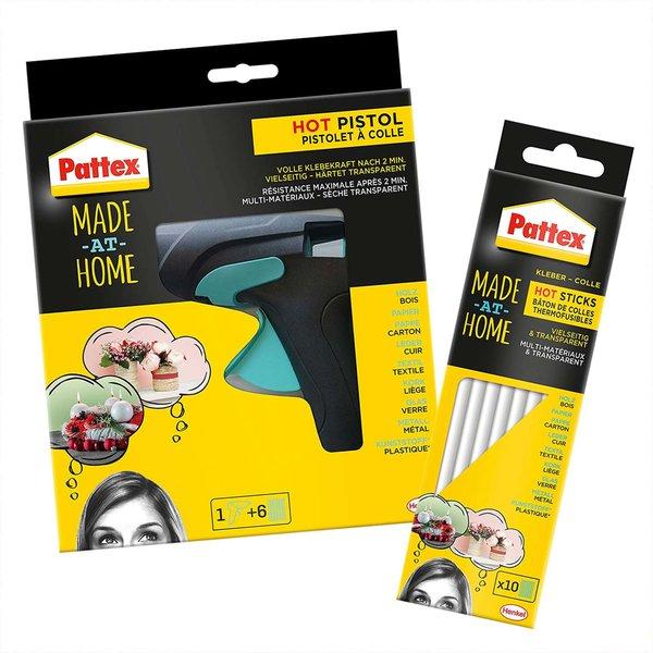 Pattex Made at Home Heißklebepistole inkl. 6 Sticks