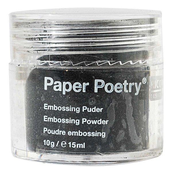 Paper Poetry Embossingpuder schwarz 10g