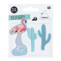 Made by Me Patches Kakteen-Flamingo 3teilig zum Aufbügeln