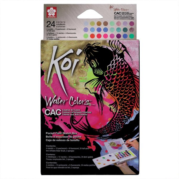 Koi Water Color Sketchbox Creative Art Colours 24 Farben