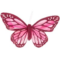 Schmetterling mit Clip pink 12cm
