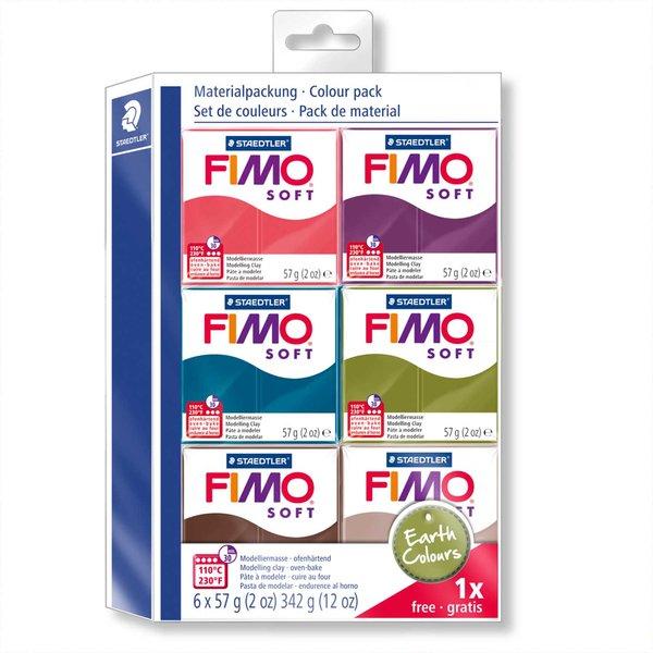 Staedtler FIMO soft Set Earth Colours 6 Blöcke je 57g