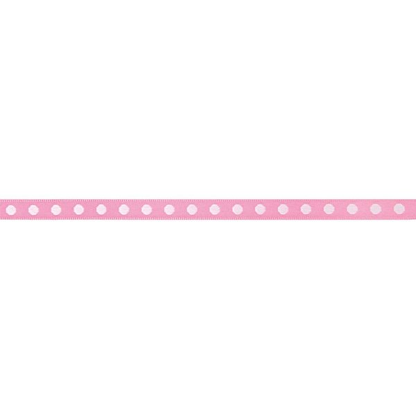Rico Design Ribbon gewebte Punkte rosa-hellrosa 2m