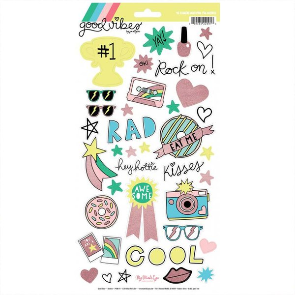 DECOHOBBY MyMindsEye Good Vibes - Sticker Sheet 15,2x30,5cm