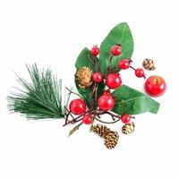 Früchte-Blätter Mix rot-grün-natur
