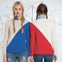Strickanleitung zweifarbiger Pullover