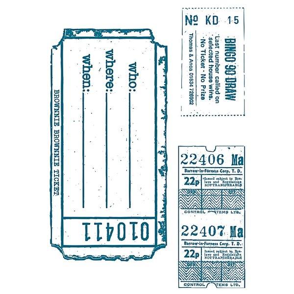 Paper Poetry Silikonstempel Tickets 3 Motive