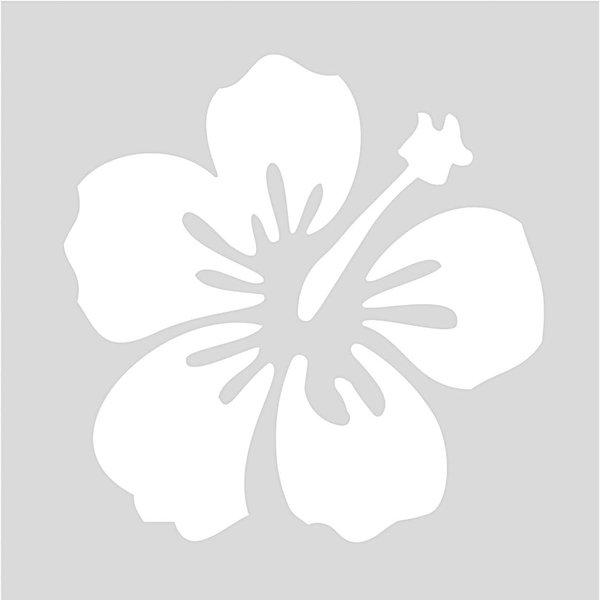 Rico Design Schablone Hibiskus 7,5x7,5cm selbstklebend