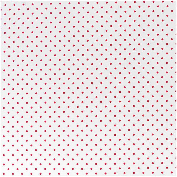 Rico Design Stoff Pünktchen weiß-rot 50x160cm