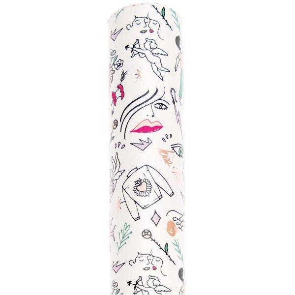 Paper Poetry Geschenkpapier It must be love Liebe 70cm 2m Hot Foil