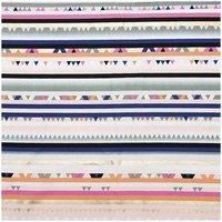Rico Design Druckstoff Streifen mehrfarbig-neon 140cm