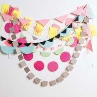 Anleitung Papiergirlanden aus Origamipapier