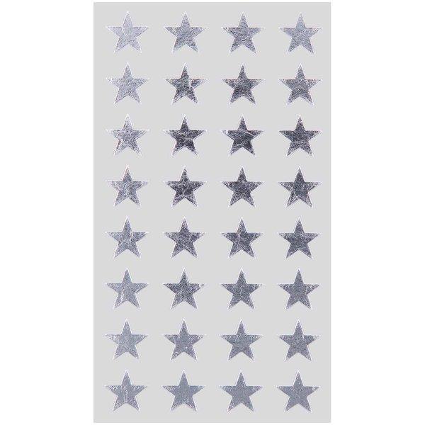 Paper Poetry Sticker Sterne silber 13mm 4 Bogen