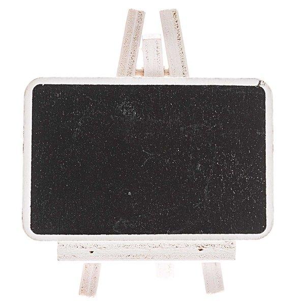 Rico Design Tafel mit Ministaffelei weiß 8cm