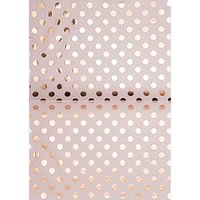 Rico Design Paper Patch Papier Punkte rosa 30x42cm Hot Foil