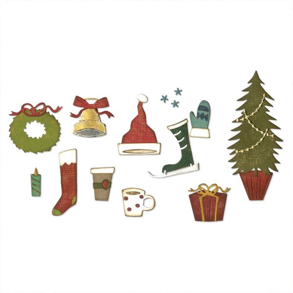 Sizzix Thinlits Die Festive Things by Tim Holtz