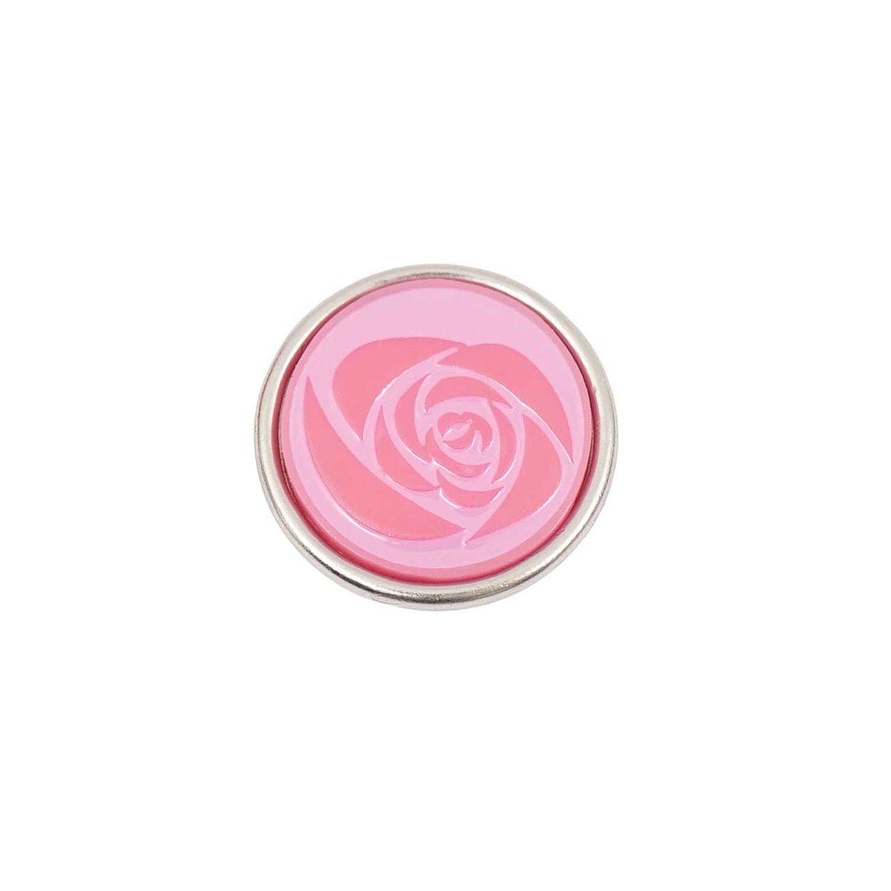 Rico Design Knopf Rose rosa 14mm