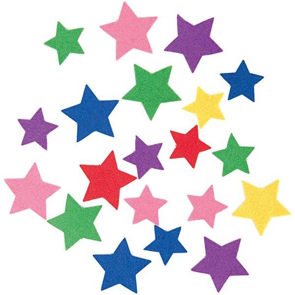 Rico Design Filzsterne mehrfarbig ca. 80 Stück selbstklebend
