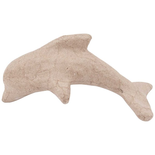 Rico Design Pappmaché Delphin klein 12,5x6x6,2cm