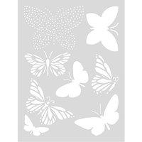 Rico Design Schablone Schmetterling 18,5x24,5cm selbstklebend