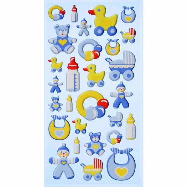 HobbyFun SoftySticker Baby Boy blau