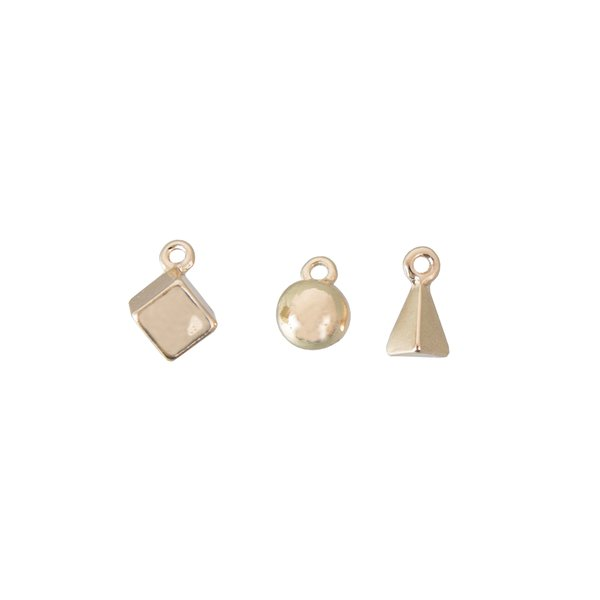 Jewellery Made by Me Anhänger Mix11 gold 3 Stück