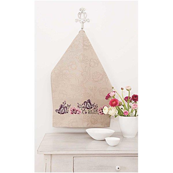 Rico Design Stickpackung Geschirrtuch Blütenzauber
