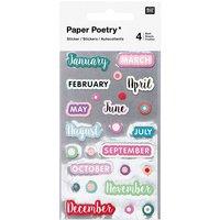 Paper Poetry Sticker Monate 100 Stück
