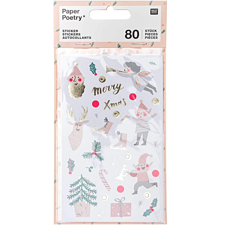 Paper Poetry Sticker Jolly Christmas pastell 4 Blatt online kaufen »