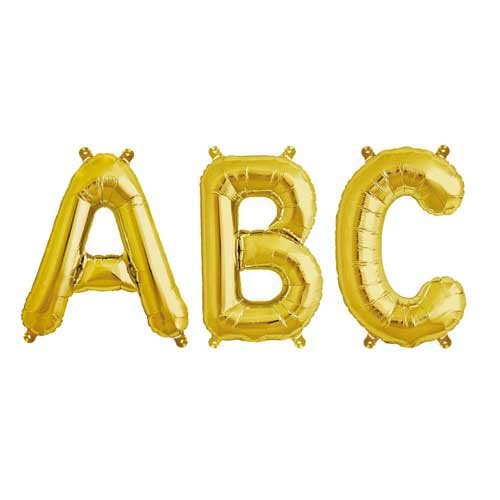 Rico Design Folienballon Buchstabe gold 36cm