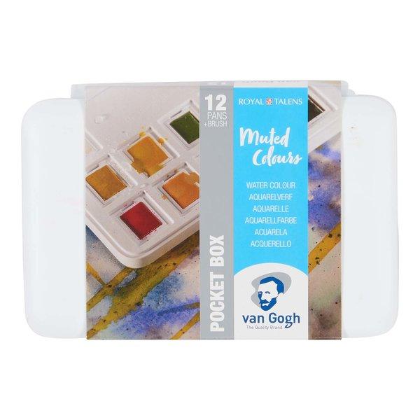 van Gogh Aquarell Set gedeckte Farben 12 Näpfchen