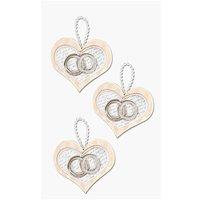 Paper Poetry 3D Sticker Herzen mit Ringe