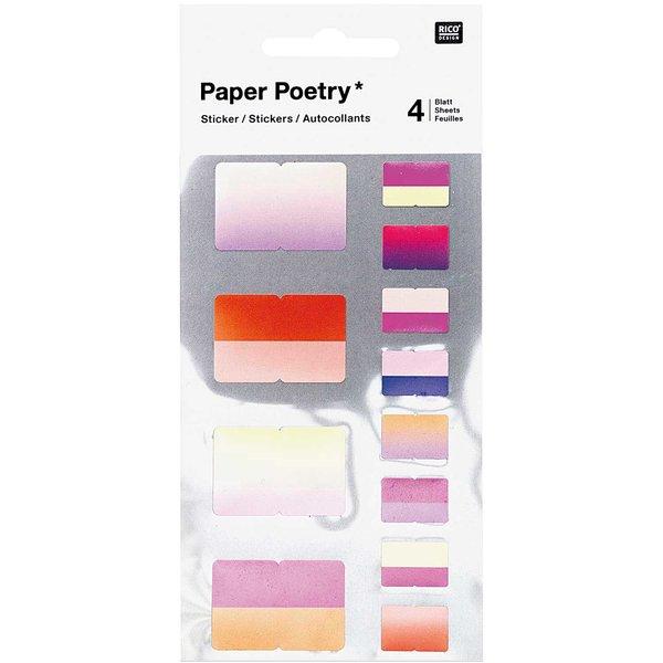 Paper Poetry Sticker Register rosa 48 Stück