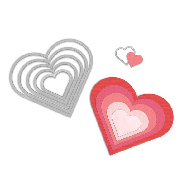 Sizzix Framelits Die Set Hearts