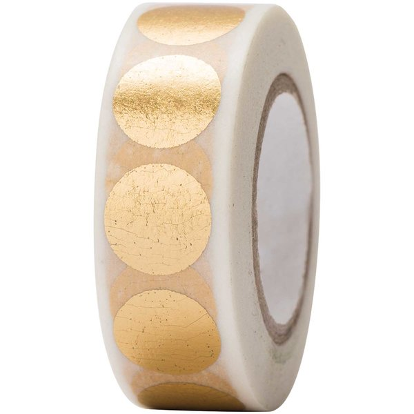 Paper Poetry Tape Punkte gold 15mm 10m Hot Foil