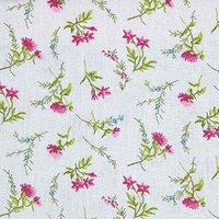 Rico Design Stoff Blumen grau-rosa 50x160cm