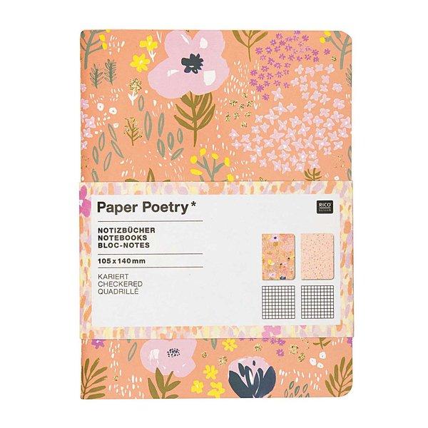 Paper Poetry Notizbücher Crafted Nature rosa A6 40 Seiten 2 Stück