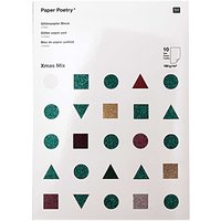 Paper Poetry Glitterpapierblock X-Mas DIN A4 10 Blatt