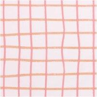 Rico Design Druckstoff Crafted Nature kariert rosa 140cm