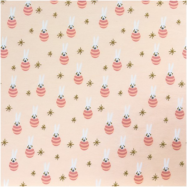 Rico Design Jerseystoff Baby Collection Hase rosa-gold 70x100cm