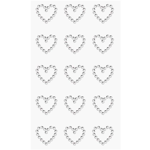 Paper Poetry Strass-Sticker Herzen crystal